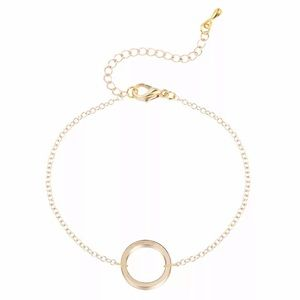 Gold Eternal Circle Bracelet